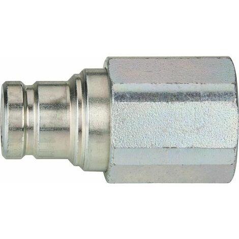 """Accouplement hydraulique avec soupape plate, ISO 16028 3/8"""" femelle"""