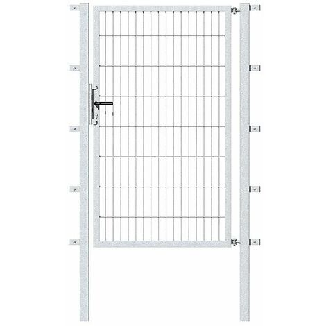 Portillon treillis, galvanisé a chaud 1000x1200mm, largeur treillis 50x200mm