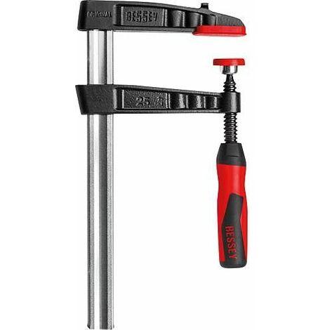 Bessey serre-joint en fonte malleable 250x120mm Type TG25-2K avec manche plastique 2 composants