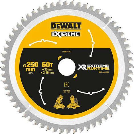 Lame de scie circulaire DeWalt, DT99573 XR Extreme Runtime 60Z 250/30 mm