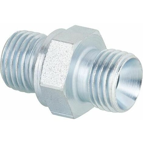 Nipple special 1/4 cyl. x 1/4 cone interieur pour flexible fuel Oertli, Mainflamme, Cuenod