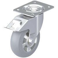 Roulette pivotante BLICKLE tole acier LE-ALES 150K-FI-SG diam.-roue 150mm avec butoir