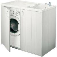lave main avec meuble avec 2 portes LxlxH :  1009x600x925mm