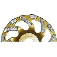 Disque diamant TECTOOL convient pour ponceuse beton TCG 125 diam. 125 mm pour granite, colle
