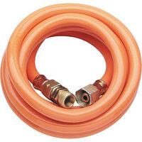 """Tuyau gaz propane 3000 mm 3/8"""" L, avec raccord pour tuyau souple"""