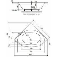 Baignoire d'angle Balneo Nalia | Sans tablier - 145 x 145 cm