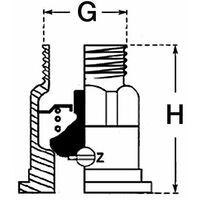 """Frein PAW (SBE-AG) DN 1"""" avec passage d'air automatique reglable"""