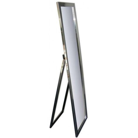 Miroir Psyché - Effet Chromé - 150 cm x 40 cm (HxL) - Chrome