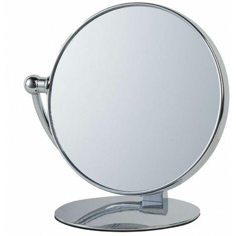 Miroir Grossissant (X7) à poser - Diamètre: 20 cm - Chrome