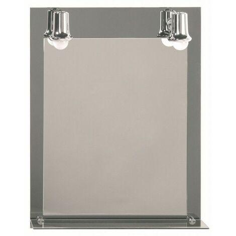 Miroir Fluocompacte, H65 x L50 x P13,5 cm