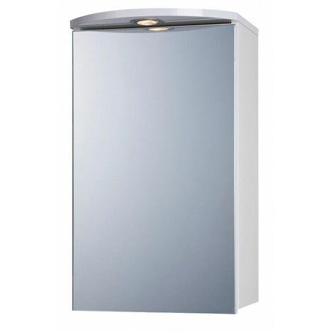 Armoire de toilette avec éclairage, 60 x 36 cm - Blanc