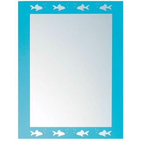 Miroir Décoratif, 50 x 40 cm - Bleu
