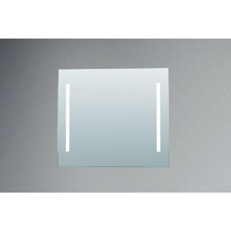 Miroir de salle de bains avec éclairage FLUORESCENT - Modèle Fluo 80 - 70 cm x 80 cm (HxL)