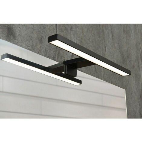 Spot de salle de bains avec éclairage LED - Modèle Spot Noir - 4 cm x 30 cm (HxL) - Noir