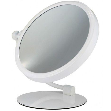 Miroir Grossissant à poser X3 - Blanc - Diamètre: 20 cm - Blanc