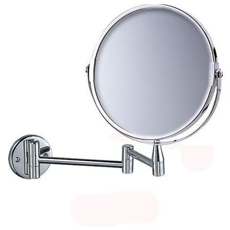 Miroir Grossissant (X5) Mural Rond - Diamètre: 17 cm - Chrome