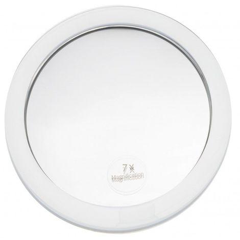 Miroir Grossissant à ventouse (X7) - Blanc - Diamètre: 15 cm - Blanc