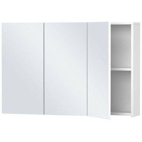 Armoire de toilette Blanche - 3 Portes - 60 cm x 90 cm (HxL) - Blanc