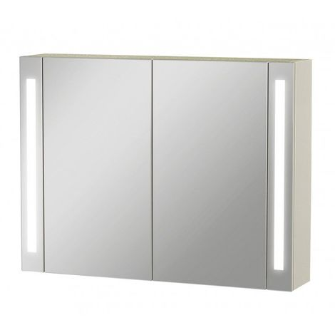 Armoire de toilette Led - Modèle La Contemporaine - 60 cm x 80 cm (HxL) - Blanc