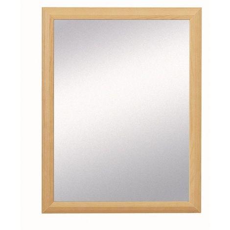Miroir Décoratif - Bois naturel - 45 cm x 35 cm (HxL) - Bois