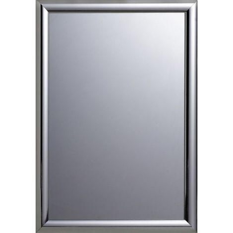 Miroir Décoratif - Le Bellâtre- Effet Chromé - 70 cm x 50 cm (HxL) - Chrome