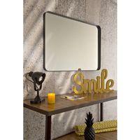 Miroir Décoratif - Encadrement Métallique Noir - 60 cm x 120 cm (HxL) - Metal