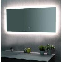 Miroir de salle de bains avec éclairage LED - Modèle Touch 120 - 60 cm x 120 cm (HxL)