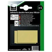 12 x 4 pastilles adhésives double face pour miroirs 4 à 5mm [LOT]