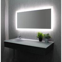Miroir Anti Buee Prestige 120x80 Cm Eclairage Integre A