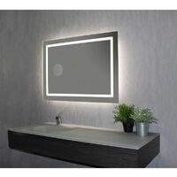 Miroir de salle de bains avec éclairage LED - Modèle 90 - 65 cm x 90 cm (HxL)