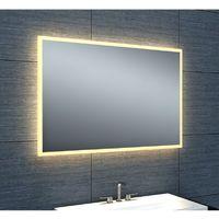 Miroir de salle de bains avec éclairage LED - Modèle épuré 90 - 60 cm x 90 cm (HxL)
