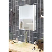 Armoire de toilette aluminium - Modèle NEV 50 - 70 cm x 50 cm (HxL) - Gris