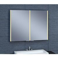 Armoire de toilette aluminium - Modèle NEV 90 - 70 cm x 90 cm (HxL) - Gris
