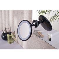 Miroir Grossissant lumineux à ventouse (X3) - Noir - Diamètre: 17,5 cm - Blanc