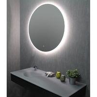 Miroir de salle de bains avec LED - Rond 90 cm