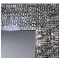 Miroir Décoratif Glamour - Cadre Gris Métal - 70 cm x 50 cm (HxL) - Gris métal foncé