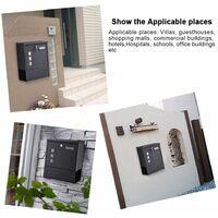 Boîte aux Lettres Murale DIN C4 avec Rouleau à Journaux A4 Format Mail Box en Acier Galvanisé + Fenêtre + Plaque Signalétique + 2 Clé Verrouillables - Noir