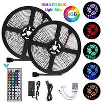LED Ruban 10m Bande LED 300 leds 5050 RGB IP65 Étanche,Bonve Pet Kit Bande LED RGB+W 2.4W/m Flexible Multicolore Peut-Découpé Cl