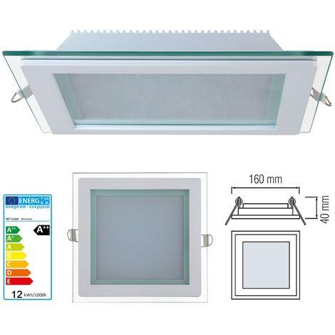 Faretto led 15W Pannello vetro incasso Quadrato luce Naturale 4200k