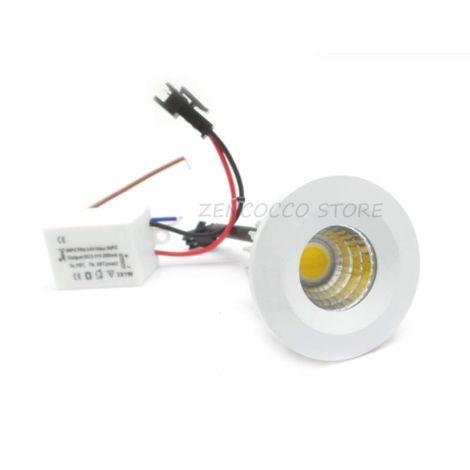 MINI FARETTO LED COB 3W puntoluce incasso a molle Fisso 240Lm 220v   Bianco Freddo