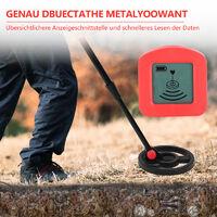 wolketon GC-1003 Metalldetektor wasserdichter Leichtgewicht Metall Suchgeraet Geschenk fuer Kinder