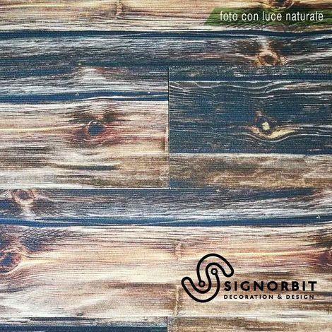 ANTICO VASCELLO pannello finto legno In EPS Resinato Listello Misura 100x25 Cm. Pezzi 4 Totale 1 Mq