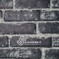 BLACK CARBON pannello finto mattone in EPS Resinato Misura 120x50 Cm spessore 2 cm