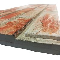 MATTONCINO ROSSO pannello finto mattone in EPS Resinato Misura 100x50 Cm spessore 2 cm