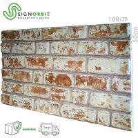 SANTORINI pannello finto mattone in EPS Resinato Misura 100x50 Cm spessore 2 cm   01 Pz