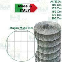 - H 125 cm - maglia 50x50 mm Rete Recinzione Romboidale Verde Nevada 25 mt