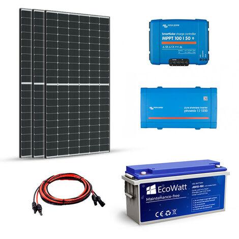 Kit solaire 1035W autonome 12V-230V 1200VA Stockage 4800wh - VICTRON ENERGY