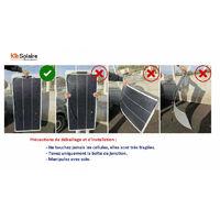 Kit Solaire 100W 12V ETFE Souple Shingled Camping Car-Caravane-Bateau Victron-Energy