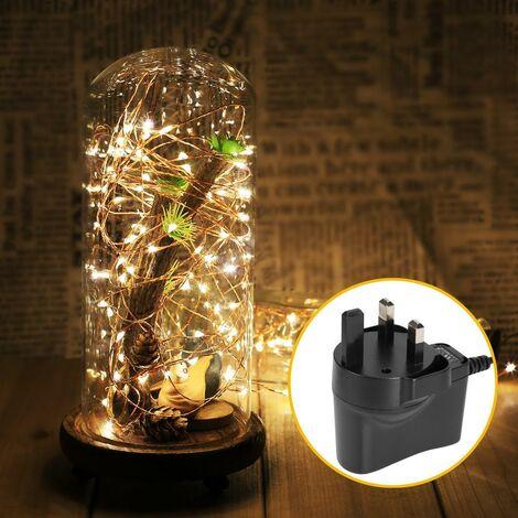 Lampe de LED blanche chaude UK Prise avec Remote Control - Blanc