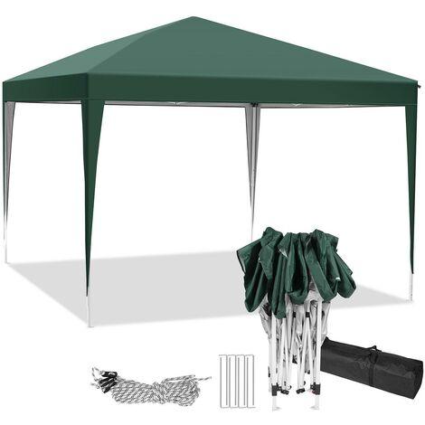 3x3m tonnelle jardin tente de reception et pique nique pliant Vert - Vert